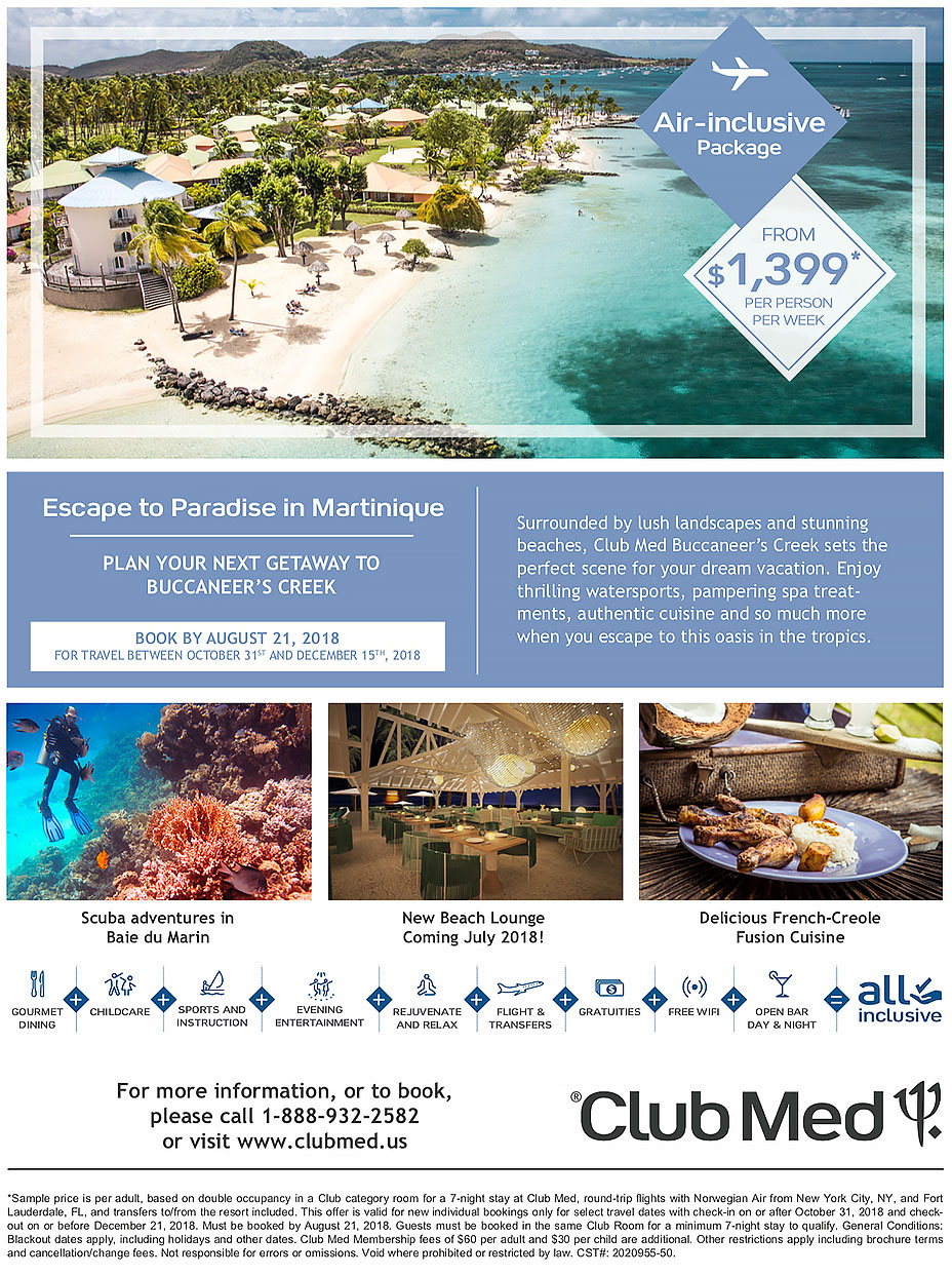Club Med Martinique special deal